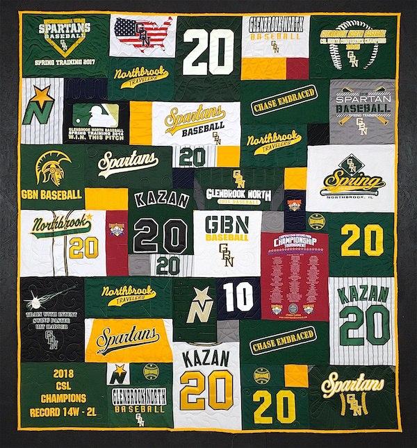 baseball graduation T-shirt quilt