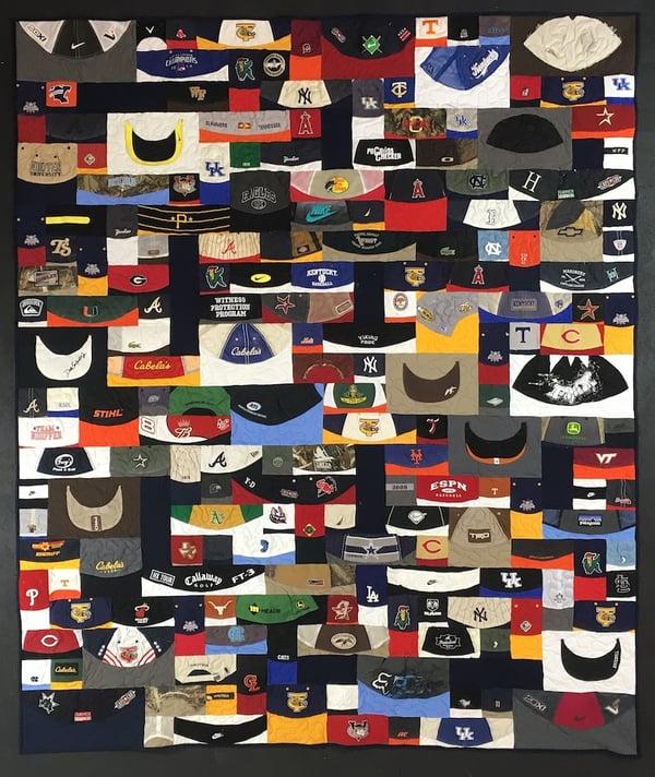 baseball hat quilt 19