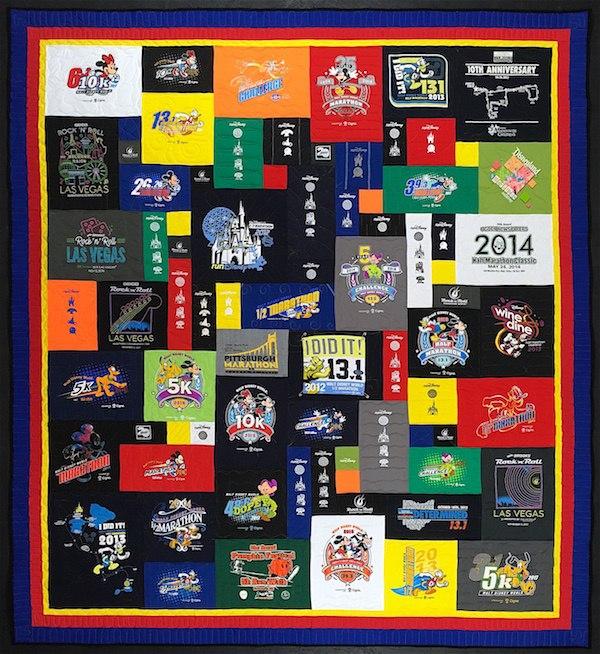 Disney marathon T-shirt quilt.