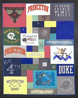 An example of blank blocks used in a T-shirt quilt.