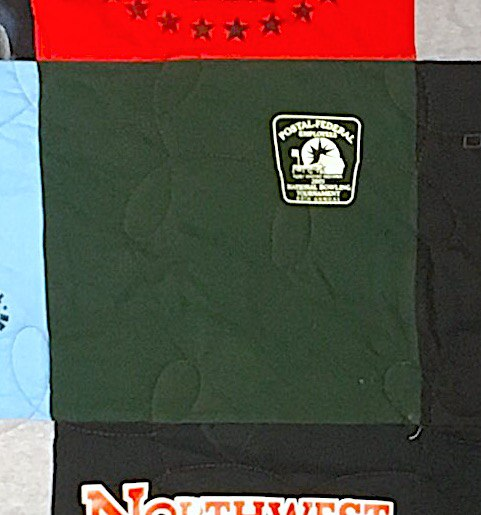 block with too much space in a t-shirt quilt
