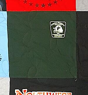 This block in this T-shirt quilt has too too much space around the image.