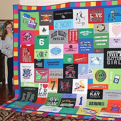 color border on a Too Cool T-shirt quilt