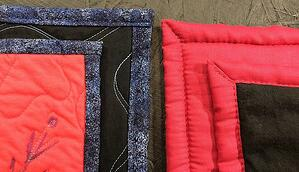 This is a comparison of 2 different binding styles. The one on  the left is heirloom quality. The one on the right is not.