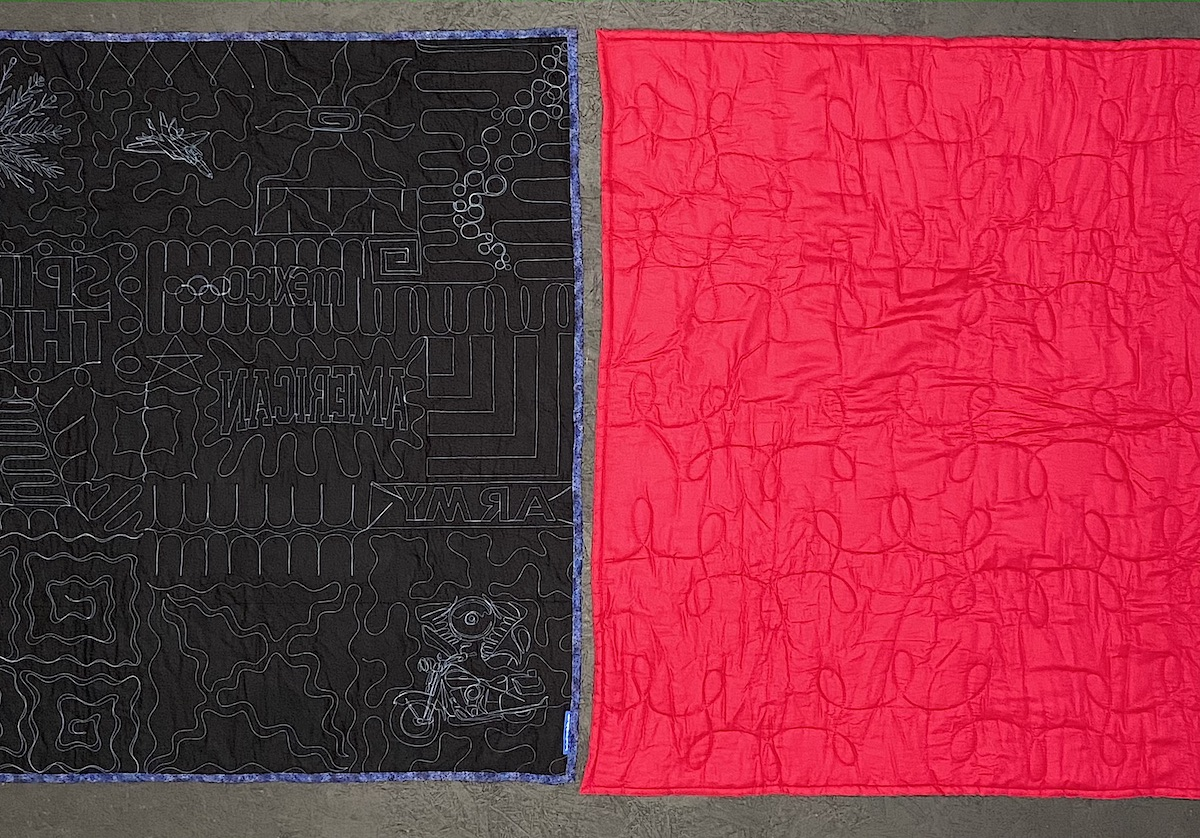 Compare quilt density of a Too Cool T-shirt quilt and a Campus Quilt T-shirt quilt.