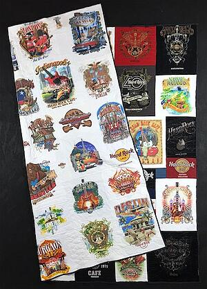 double sided hard rock cafe T-shirt quilt