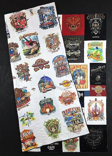 double sided hard rock T-shirt quilt