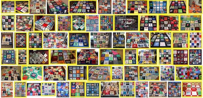 google results T-shirt quilts with one block size