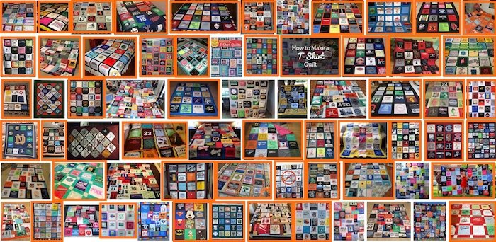 google T-shirt quilts results rows or columns