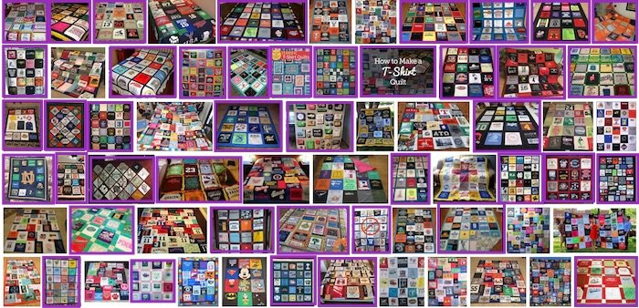 google results T-shirt quilts with sashing