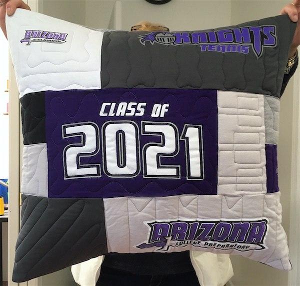 graduation T-shirt pillow front