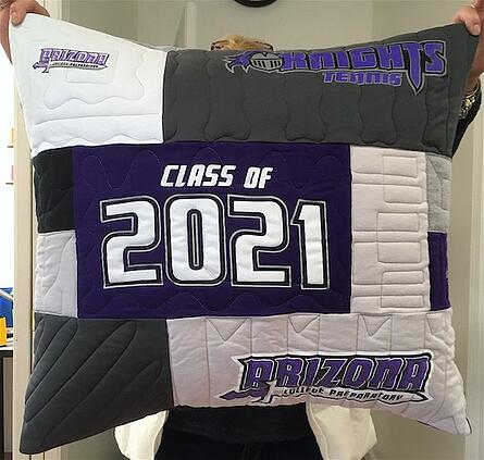 graduation T-shirt pillow front
