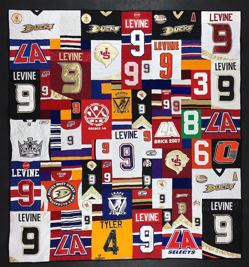 hockey jersey quilt by Too Cool T-shirt Quilts