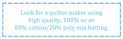 What to look for in a T-shirt quilt - good batting