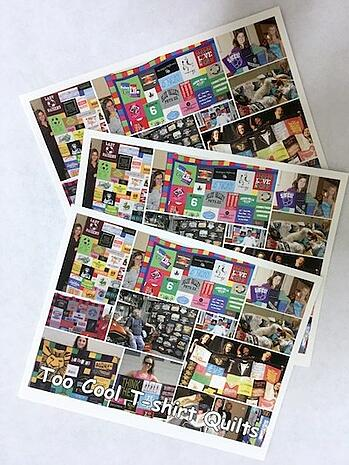 Too Cool T-shirt Quilt postcards