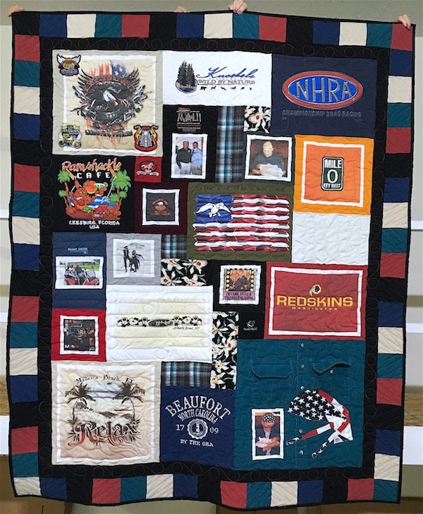 photo on clothing memeorial quilt