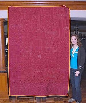 back of a HS graduation quilt