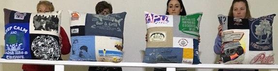 T-shirt memorial pillows