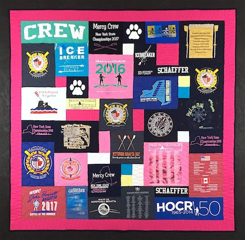 Rowing T-shirt quilt