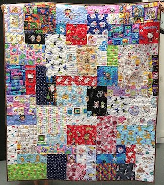 quilt made from scrubs