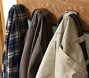 shirts and khaki pants work well together made into a quilt