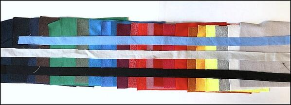 choosing the leading for a stained glass T-shirt quilt