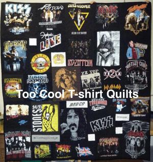 stolen concert T-shirt quilt watermarked