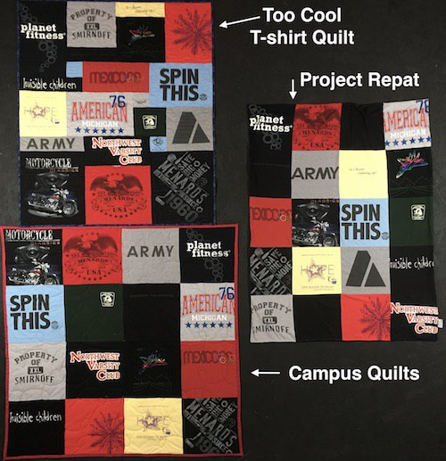 Compare Project Repat, Campus Quilts and Too Cool T-shirt Quilts : repat quilts - Adamdwight.com